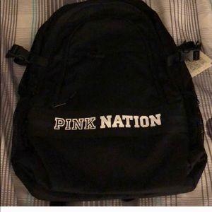 VS PINK Pink Nation black bookbag